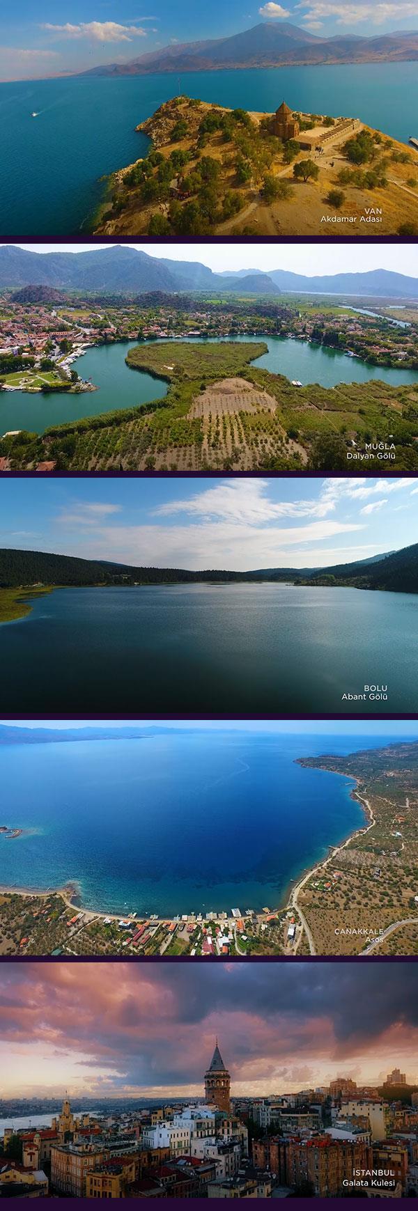 Kuş Bakışı Türkiye panoraması muhteşem görüntüler eşliğinde artık Digiturk radyo kanallarında
